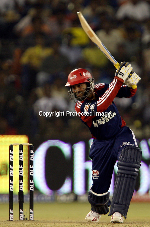 Delhi Daredevils Batsman Dinesh Karthik Hit The Shot Against Deccan Chargers Batsman During The Indian Premier League - 15th match Twenty20 match 2009/10 season Played at Barabati Stadium, Cuttack 21 March 2010 - day/night (20-over match)