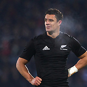 All Black Dan Carter in action during the New Zealand V Fiji Rugby Union test match at Carisbrook, Dunedin. New Zealand. 22nd July 2011. Photo Tim Clayton