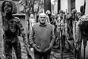 """Olbram Zoubek (21 April 1926 – 15 June 2017) was a contemporary Czech sculptor and designer. His work was inspired by Swiss-Italian sculptor Alberto Giacometti. Zoubek was particularly well known for having taken a death mask of Jan Palach, a Charles University student who burned himself to death in protest over the 1968 Soviet invasion of Czechoslovakia. One of his most famous works is his """"Memorial to the Victims of Communism"""" in Prague."""