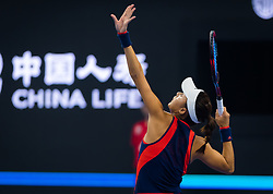 October 5, 2018 - Qiang Wang of China in action during the quarter-final at the 2018 China Open WTA Premier Mandatory tennis tournament (Credit Image: © AFP7 via ZUMA Wire)