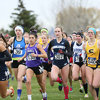 2015 NCAA Cross Country Championships: Lucy Ramquist (UW-Eau Claire), Sanjuanita Martinez (Cornell College) at the NCAA Division III Cross Country Championships in Winneconne, Wisconsin, on November 22, 2015.