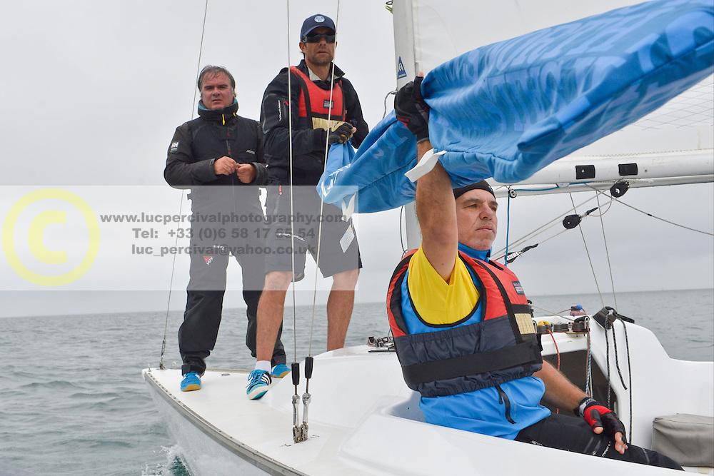 Eric Flageul, Nicolas Vimont-Vicary - Stage d'entrainement avec l'equipe France de voile - Sonar a ENVSN, St Pierre de Quiberon