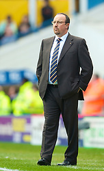 BIRMINGHAM, ENGLAND - Sunday, April 4, 2010: Liverpool's manager Rafael Benitez during the Premiership match against Birmingham City at St Andrews. (Photo by David Rawcliffe/Propaganda)