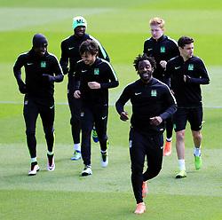 Manchester City players train  - Mandatory byline: Matt McNulty/JMP - 25/04/2016 - FOOTBALL - City Football Academy - Manchester, England - Manchester City v Real Madrid - UEFA Champions League Training Session