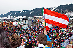 15.02.2013, Planai, Schladming, AUT, FIS Weltmeisterschaften Ski Alpin, Riesenslalom, Herren, 2. Durchgang, im Bild begeisterte Fans im Zielstation // enthusiastic fans in the target station during 2st run of the Mens Giant Slalom at the FIS Ski World Championships 2013 at the Planai Course, Schladming, Austria on 2013/02/15. EXPA Pictures © 2013, PhotoCredit: EXPA/ Markus Casna