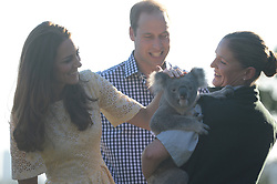 The Duke and Duchess of Cambridge visit Taronga Zoo in Sydney Austrailia, on day 14 of their Royal Tour of New Zealand and Australia, Sunday, 20th April 2014. Picture by Andrew Parsons / i-Images