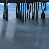 Early morning at Frisco Pier, Cape Hatteras National Seashore, NC.