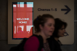 """© Licensed to London News Pictures . 21/05/2015 . Manchester , UK . The """" HOMEwarming weekend """" - the official opening of HOME - the new £25million arts venue on First Street in Manchester , consisting of cinema complex , theatres and galleries and formerly housed at The Corner House and the Library Theatre , on Manchester's Oxford Road .  Photo credit : Joel Goodman/LNP"""