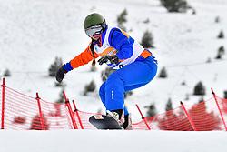 FINA PAREDES Arstrid, SB-LL2, ESP, Banked Slalom at the WPSB_2019 Para Snowboard World Cup, La Molina, Spain