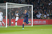 Angel Di Maria (psg) scored a goal and celebrated it during the French Championship Ligue 1 football match between Paris Saint-Germain and EA Guingamp on April 9, 2017 at Parc des Princes stadium in Paris, France - Photo Stephane Allaman / ProSportsImages / DPPI