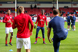 Tammy Abraham of England U21 warms up - Rogan Thomson/JMP - 11/10/2016 - FOOTBALL - Bescot Stadium - Walsall, England - England U21 v Bosnia and Herzegovina - UEFA European Under 21 Championship Qualifying.