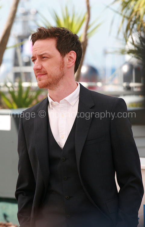 James Mcavoy at the photo call for the film The Disappearance Of Eleanor Rigby at the 67th Cannes Film Festival, Sunday 18th May 2014, Cannes, France.