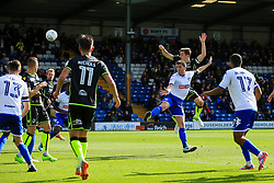 Tom Lockyer of Bristol Rovers scores his sides first goal  - Mandatory by-line: Matt McNulty/JMP - 19/08/2017 - FOOTBALL - Gigg Lane - Bury, England - Bury v Bristol Rovers - Sky Bet League One