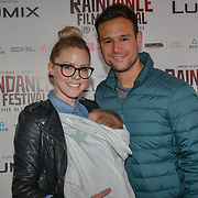 Director Richard Raymond brother and wife with a child attend 'Souls of Totality' film at Raindance Film Festival 2018, London, UK. 30 September 2018.