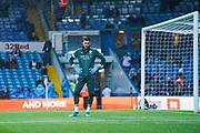 Leeds United goalkeeper Kiko Casilla (13) warming up during the EFL Sky Bet Championship match between Leeds United and Queens Park Rangers at Elland Road, Leeds, England on 2 November 2019.