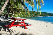 White sandy beach on  Korovou Eco-Tour Resort, Naviti, Yasawas, Fiji, South Pacific
