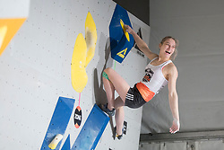 Janja Garnbret (SLO) at Fnal of Climbing event - Triglav the Rock Ljubljana 2018, on May 19, 2018 in Congress Square, Ljubljana, Slovenia. Photo by Urban Urbanc / Sportida
