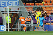 Bristol Rovers Defender, Tom Lockyer (4) heads towards  goal during the EFL Sky Bet League 1 match between Blackpool and Bristol Rovers at Bloomfield Road, Blackpool, England on 3 November 2018.