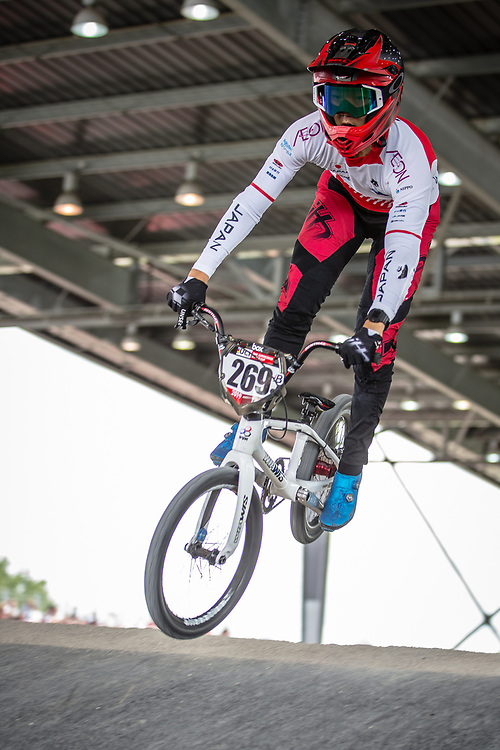#269 (NAKAI Asuma) JPN at Round 6 of the 2019 UCI BMX Supercross World Cup in Saint-Quentin-En-Yvelines, France