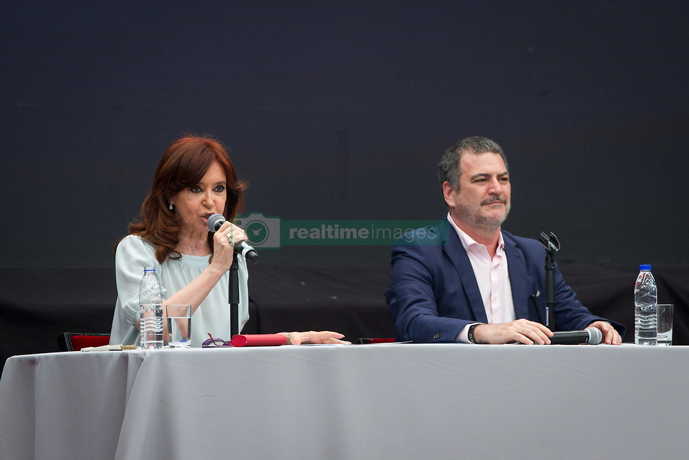 November 19, 2018 - Buenos Aires, Argentina - The former President of Argentina Cristina Kirchner (Argentina)  during Latin American and Caribbean Conference of Social Sciences of critical thinking in Buenos Aires, Argentina, on 19 November 2018. On the first day of the conference, they participated:Nacho Levy Political activist of ¨la Poderosa¨ and editor of the magazine ¨La graganta Poderosa¨ (Argentina)Co-founder Mídia Ninja, Felipe Altenfelder. (Brazil)The former President of Brazil Dilma Rousseff (Brazil)The former President of Argentina Cristina Kirchner (Argentina)And Ángel Quintero, Nilma Lino Gomes and Alejandro De La Fuente as teachers. (Credit Image: © Federico Rotter/NurPhoto via ZUMA Press)