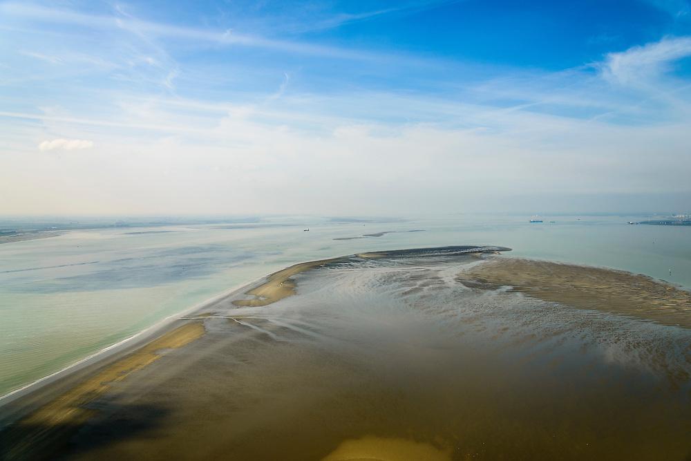 Nederland, Zeeland, Zeeuws-Vlaanderen, 01-04-2016;  Westerschelde met Middelplaat.<br /> Western Scheldt. <br /> luchtfoto (toeslag op standard tarieven);<br /> aerial photo (additional fee required);<br /> copyright foto/photo Siebe Swart