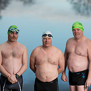 21.01.17<br /> Ice Swimmers Feature. <br /> Pictured at Castleconnell, Limerick are left to right, Mark Dempsey, John Ryan and Pearse Ryan. Picture: Alan Place