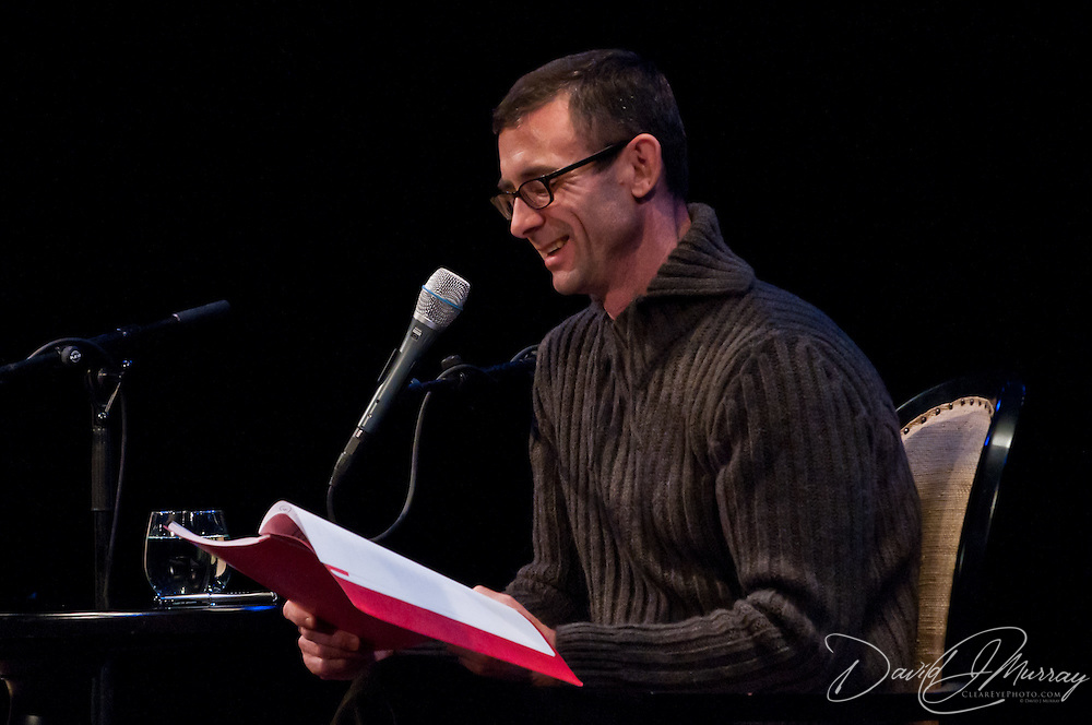 Chuck Palahniuk on stage at The Music Hall in Portsmouth, NH. Nov. 3, 2011