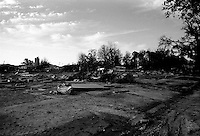 A dead and desolate landscape are all thats left of  the once lively streets of the lower ninth ward over one month after hurricane katrina made lanfall October 8, 2005 New Orleans Louisiana.  (photo by Darren Hauck)