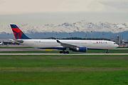 Delta Air Lines Airbus A330-302 at Malpensa (MXP / LIMC), Milan, Italy