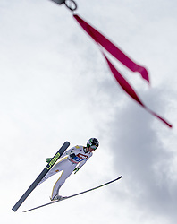 04.01.2015, Bergisel Schanze, Innsbruck, AUT, FIS Ski Sprung Weltcup, 63. Vierschanzentournee, Innsbruck, 1. Wertungssprung, im Bild Peter Prevc (SLO) // Peter Prevc of Slovenia soars trought the air during his first competition jump for the 63rd Four Hills Tournament of FIS Ski Jumping World Cup at the Bergisel Schanze in Innsbruck, Austria on 2015/01/04. EXPA Pictures © 2015, PhotoCredit: EXPA/ JFK