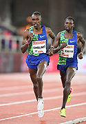 Paul Chelimo (USA) and Ali Kaya (TUR) run in the 10,000m during the Bauhaus-Galan in a IAAF Diamond League meet at Stockholm Stadium in Stockholm, Sweden on Thursday, May 30, 2019.Chelimo was fourth in 27:43.89 and Kaya placed ninth in 27:53.39. (Jiro Mochizuki/Image of Sport)