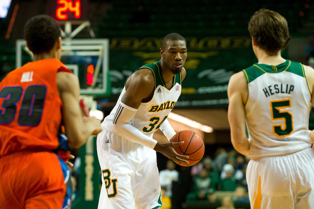 WACO, TX - JANUARY 3: Cory Jefferson #34 of the Baylor Bears brings the ball up court against the Savannah State Tigers on January 3, 2014 at the Ferrell Center in Waco, Texas.  (Photo by Cooper Neill) *** Local Caption *** Cory Jefferson