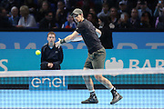 Andy Murray (Great Britain) during the final of the Barclays ATP World Tour Finals at the O2 Arena, London, United Kingdom on 20 November 2016. Photo by Phil Duncan.