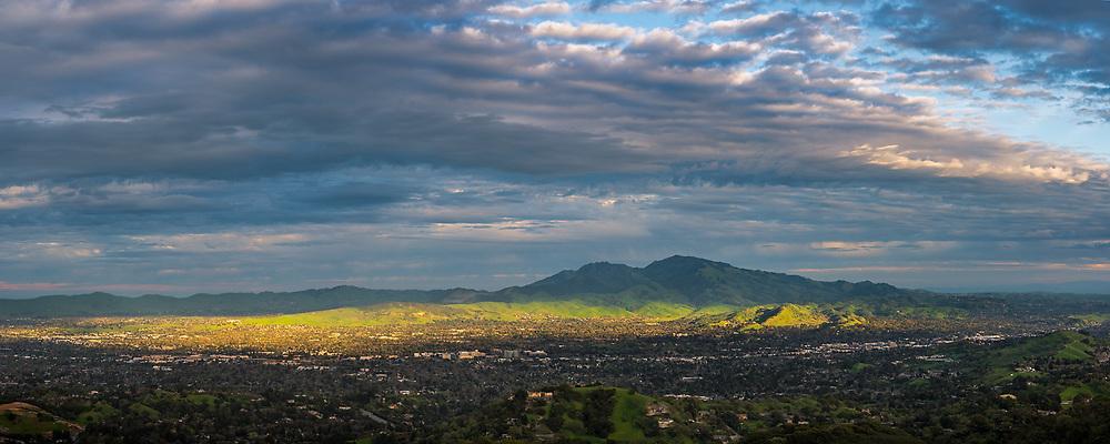 Clouds over Mount Diablo, Contra Costa County, California