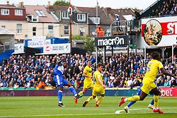 Victor Adeboyejo of Bristol Rovers shoots - Rogan/JMP - 10/08/2019 - FOOTBALL - Memorial Stadium - Bristol, England - Bristol Rovers v Wycombe Wanderers - Sky Bet League 1.