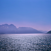 Norwegian Fjord and mountains with blue sky