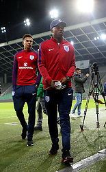 Daniel Sturridge  and Dele Alli of England arrive at The SRC Stozice Stadium ahead of the World Cup Qualifier against Slovenia - Mandatory by-line: Robbie Stephenson/JMP - 10/10/2016 - FOOTBALL - SRC Stozice - Ljubljana, England - England Press Conference