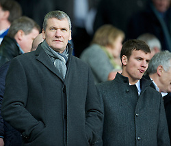 LIVERPOOL, ENGLAND - Saturday, February 20, 2010: Manchester United chief executive David Gill and his son Oliver Gill during the Premiership match against Everton at Goodison Park. (Photo by: David Rawcliffe/Propaganda)