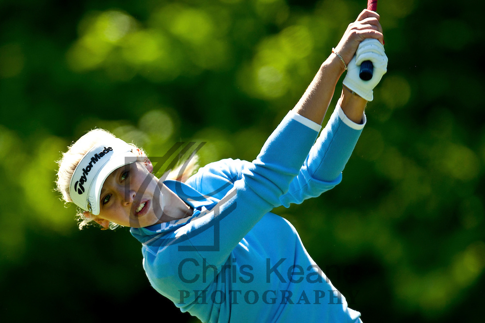 17 May 2012: Jessica Korda plays her tee shot on the second hole during the first round of match play at the Sybase Match Play Championship at Hamilton Farm Golf Club in Gladstone, New Jersey on May 17, 2012.