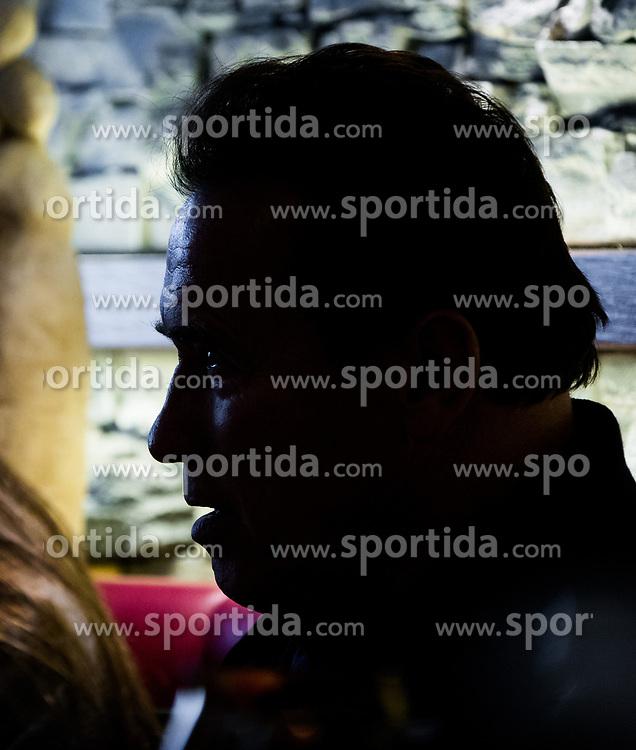 23.03.2017, Sporthotel Royer, Schladming, AUT, Special Olympics 2017, Wintergames, Arnold Schwarzenegger besucht die Spiele, im Bild Gegenlicht-Silhouette von Arnold Schwarzenegger // during the Special Olympics World Winter Games Austria 2017 in Schladming, Austria on 2017/03/23. EXPA Pictures © 2017, PhotoCredit: EXPA / Martin Huber