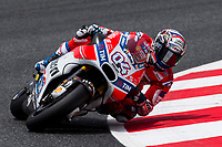 Andrea Dovizioso of Italy and Ducati Team rides during free practice for the MotoGP of Catalunya at Circuit de Catalunya on June 9, 2017 in Montmelo, Spain.(ALTERPHOTOS/Rodrigo Jimenez)