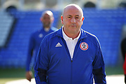 Accrington Stanley Manager John Coleman returns from inspecting the pitch before the EFL Sky Bet League 1 match between Peterborough United and Accrington Stanley at London Road, Peterborough, England on 20 October 2018.