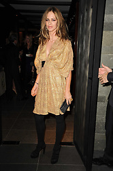 TRINNY WOODALL at a dinner to celebrate the work of Malaria No More UK held at Hakkasan Mayfair, 17 Bruton Street, London W1 on 16th November 2010.
