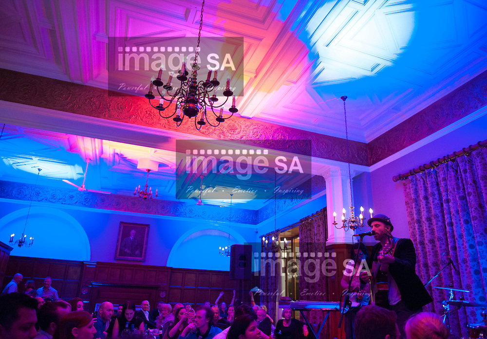 CAPE TOWN, SOUTH AFFRICA - Tuesday 30 September 2014, Kahn Morbee and The Parlotones, a world famous South African rock band, played some of their songs to a small group of people at the Cape Town Club in Queen Victoria street, as part of their &quot;Unplugged&quot; series. <br /> Photo by Roger Sedres/ImageSA
