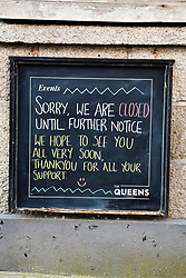 © Licensed to London News Pictures. 22/03/2020. St. Ives, UK. Business in the holiday town of St Ives has shut its doors to visitors in response to the Corona Virus pandemic. Photo credit: MARK HEMSWORTH/LNP