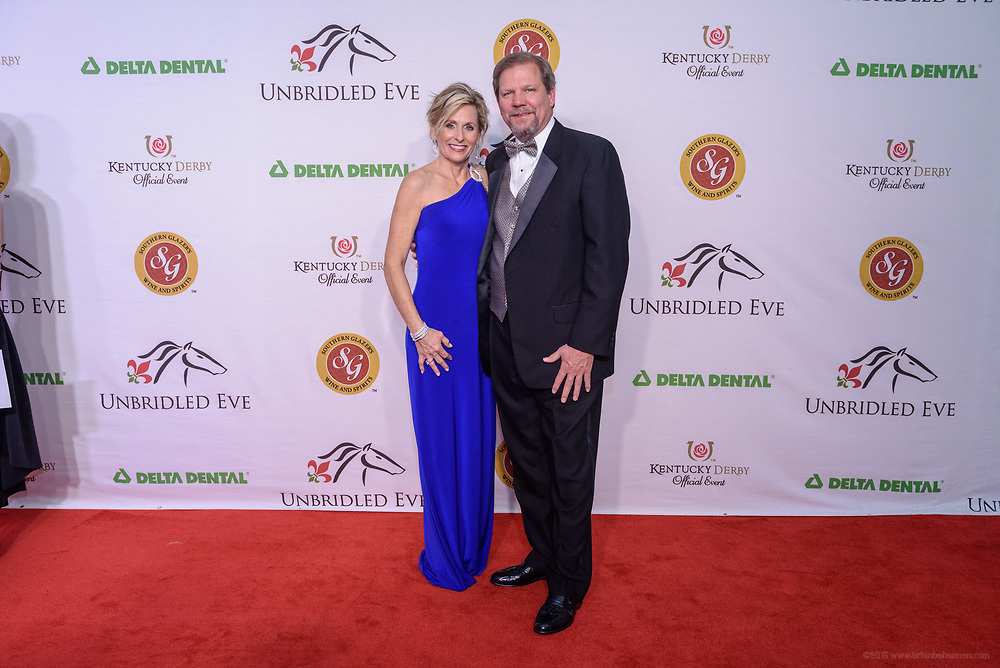 Guests on the red carpet at the 6th annual Unbridled Eve Derby Gala Friday, May 5, 2017 at the Galt House Hotel Grand Ballroom in Louisville, Ky. (Photo by Brian Bohannon)