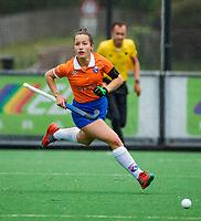 BLOEMENDAAL -  Sterre Bregman (Bldaal)   , Libera hoofdklasse hockey Bloemendaal-Pinoke (0-0). COPYRIGHT KOEN SUYK