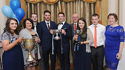 A time to celebrate<br />  Westport players Shane Scott and Tadhg Gavin with family members at the All Ireland Club celebration banquet on saturday last.<br />