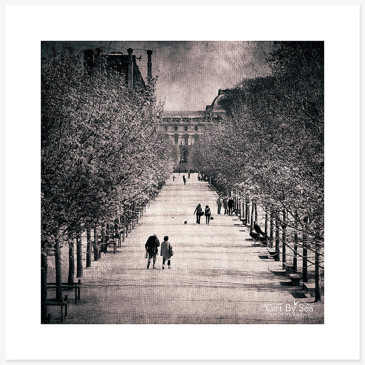 Jardin des Tuileries, Paris, France - Monochrome version. Inkjet pigment print on Canson Infinity Rag Photographique 310gsm 100% cotton museum grade Fine Art and photo paper.<br /> <br /> 8x8&quot; Prints: First print $49. Additional prints in same order $29. (A half inch white border is added for safe handling. Size with border 9x9&rdquo;).<br /> <br /> Frame-Ready Prints: Add $29 per print. Includes mounting on 12x12&rdquo; foam-board, plus white matboard with 8x8&rdquo; photo opening. Suits standard 12x12&rdquo; frames.<br /> <br /> Price includes GST &amp; postage within Australia. <br /> <br /> Order by email to orders@girtbyseaphotography.com  quoting image title or reference number, your contact details, delivery address &amp; preferred payment method (PayPal or Bank Deposit). You will be invoiced by return email. Normally ships within 7 days of payment.