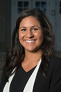 Gabrielle Dean poses for a portrait in front of Ohio University's Memorial Auditorium as part of the College of Business's Emerging Leaders program on September 21, 2016.